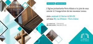 Inauguration des nouveaux Locaux de l'EEL de Paris-Alésia @ Eglise Evangélique Libre de Paris-Alésia | Paris | Île-de-France | France