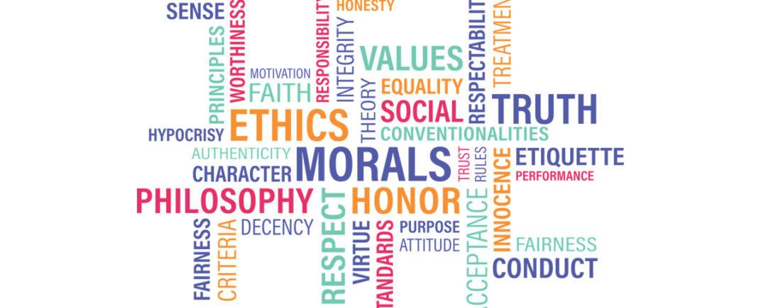 Nuage de mots Ethics Morals