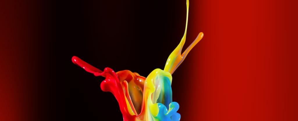 UEEL Commission Mission - peinture multicolore jaillissant